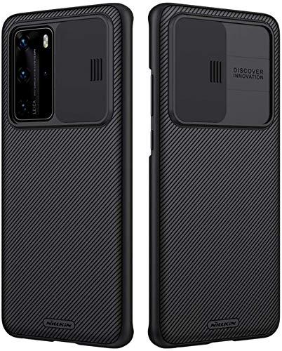 Nillkin CamShield Series Huawei P40 Pro Hülle, stilvolle Schutzhülle mit Schiebekamera-Abdeckung Ultra Dünn Premium Bumper Hybrid Handyhülle für Huawei P40 Pro - Schwarz