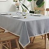 XQSSB Mantel Impermeable para Banquetes Boda Recepciones Ligero Duradero Formal o Informal Celebrations y Eventos Gris Claro 140 × 140cm