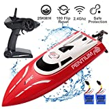 YEESON RC Racing Remote Control Boat with 25KM/H High Speed, 2.4GHz Remote, Water