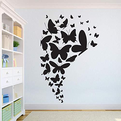 Tianpengyuanshuai Schöne Schmetterling Wandtattoo Tier Home Design Klassenzimmer Kunst Vinyl Wandaufkleber abnehmbar 85X57cm