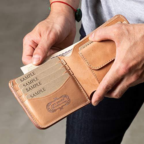本革二つ折り財布ブラック(アートブラウン)ARTBROWN