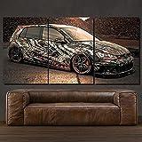 45Tdfc Art Black White Camouflage VW Golf GTI Oldtimer