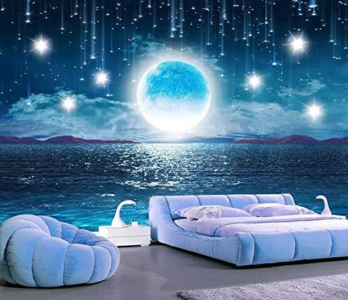 Sterne 3D nahtlose Hintergrund Tapete Decke Decke Thema Wandbild galaktische Tapete, 430 × 280 cm