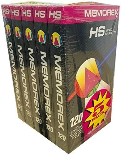 Great Price! Memorex High Standard Video Cassette 120 Full 5-Pack