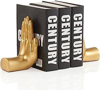 Danya B. NY8003GLD Contemporary Accent Book Shelf Decor – Hands Sculpture Bookend Set