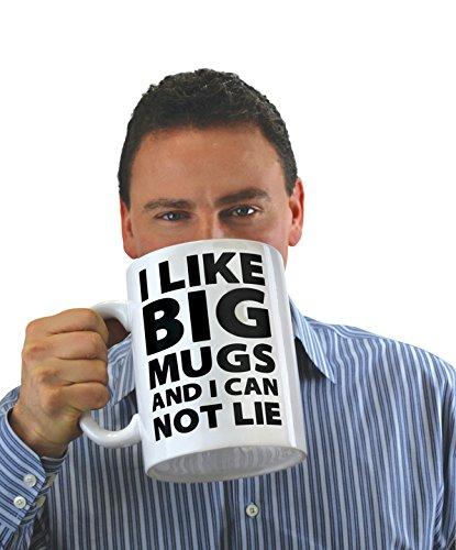 BigMouth BMMU-0010 Mouth Tasse I Like Big, keramik, weiß/schwarz