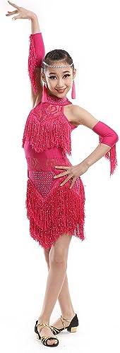 DCL Lacet Pompons Filles Latine de vêtements de Danse Latine d'Enfants vêtements Costume Contest
