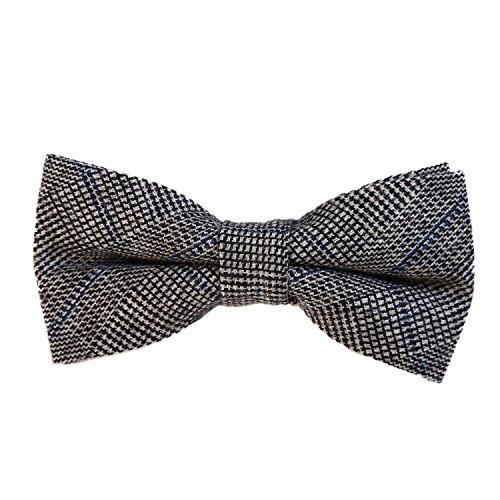 DonDon Pajarita de algodón para hombre 12 x 6 cm de tweed look ajustable y lista para usar