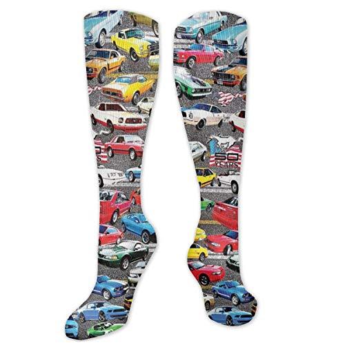 NiWCGP Mustangs Socken Damen Herren Lustige Socken Unisex Bunte Baumwolle Kuschelsocken Sneaker Sportsocken