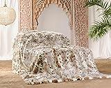 Wohnen und Accessoire Felldecke aus Webpelz Schneeleopard 150x200