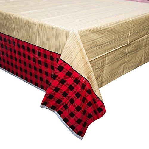 Buffalo Plaid Lumberjack Plastic Tablecloth, 84' x 54'