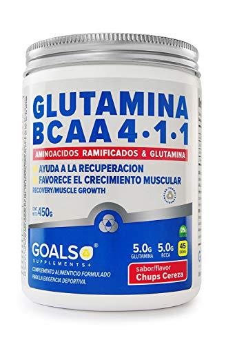 Glutamina BCAA, aminoácidos de la mejor calidad, Glutamina calidad Kyowa®, Goals Supplements 30 dosis, aminoácidos ramificados