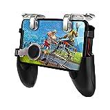 FOWYJ Gamepad, Mobile Controller Phone Spiel Mobil-Trigger Joystick L1R1 Gamepad Griff Fernbedienung, für 4,5-6,5 Inches Handy