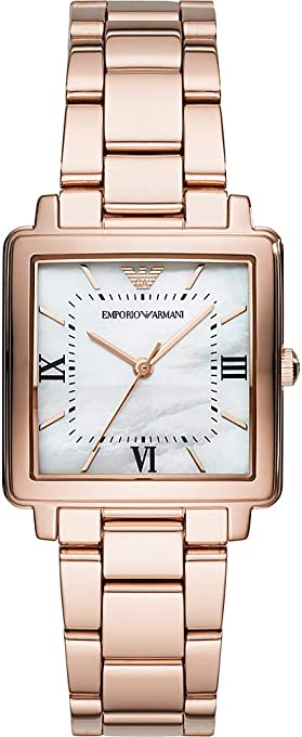 Emporio Armani Women's AR11177 Analog Quartz Rose Gold Watch