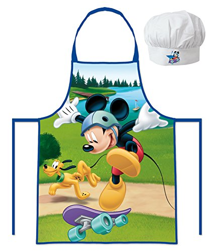 les colis noirs lcn Tablier et Toque de Chef Cuisinier Mickey Disney - Enfant cusine Garcon 3/8 Ans - 500