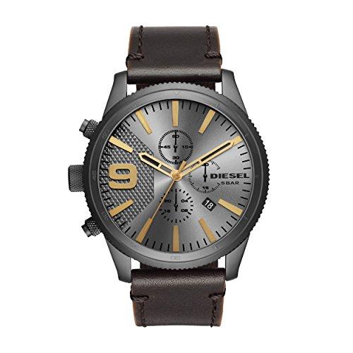 Diesel Herren Chronograph Quarz Uhr mit Leder Armband DZ4467