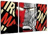 Marvel Helden 3-Teilig auf Leinwand, XXL riesige Bilder