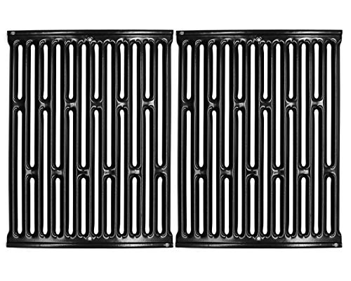 """VICOOL 15"""" 7523 Porcelain Enameled Cooking Grill Grates for Weber Spirit E/S 200 & 210 (with Side Mounted Control Panel), Spirit 500, Genesis Silver A, 7521 7522 7534 Gas Grill, hyG752C Grates Grids"""