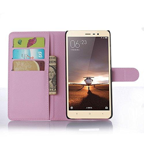 Ycloud Custodia Cover per Xiaomi Redmi Note3 / Note3 PRO Portafoglio Tasca Book Folding Custodia in Pelle con Supporto di Stand Cover Case Custodia Pelle con Stilo Penna Rosa