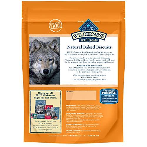 Blue Buffalo Wilderness Trail Treats Grain Free Crunchy Dog Treats Biscuits, Turkey Recipe 24-oz bag