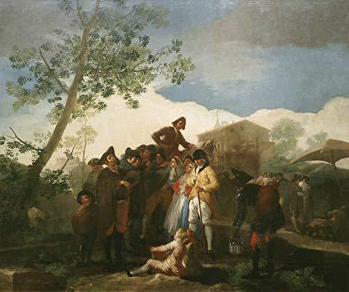 Pintura digital por número para adultos, Francisco José de Goya y Lucientes, famosa pintura para guitarristas ciegos, manualidades para decoración de pared del hogar
