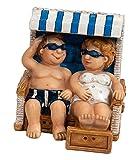 Deko Figur Polyresin Urlauberpaar im Strand-