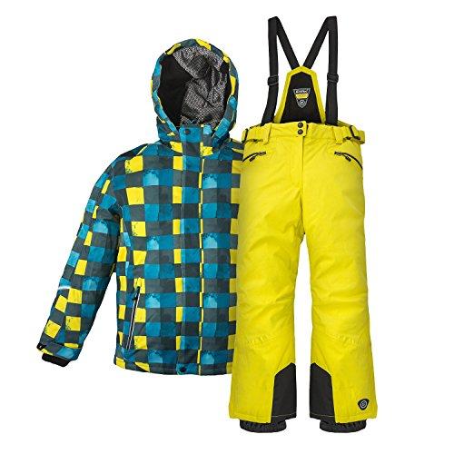Killtec Kinder Skianzug Gr. 152 Winter Skijacke Skihose Aven gelb blau kariert