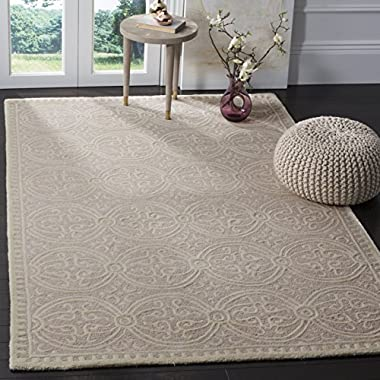 Safavieh Cambridge Collection CAM123M Handcrafted Moroccan Geometric Light Pink and Ivory Premium Wool Area Rug (8' x 10')
