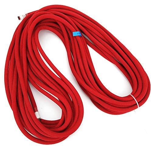 RiToEasysports Bergsteigerseil, 20 M Dynamisches Kletterseil Sicherheit Fallschutzausrüstung Hohe Zugfestigkeit(rot)