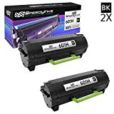 Speedy Inks Compatible Toner Cartridge Replacement for Lexmark 601H 60F1H00 High Yield (Black, 2-Pack)