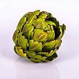 artplants.de Alcachofa Artificial, Verde, 11cm, Ø 11cm - Fruto Decorativa - Verdura de Tela