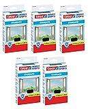 tesa® Insect Stop Fliegengitter STANDARD für Fenster, nahezu durchsichtig (1,10 m x 1,30 m / 5er Pack, anthrazit)
