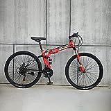 DZXCB Mountainbikes, Faltbare Mountainbikes 24/26 Zoll, Fahrräder Mit Speichenrädern, Fahrräder,27 Stage Shift,26'