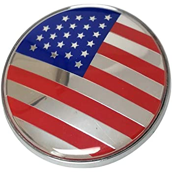 Vemblem 1pc New Face 82mm Round Front Hood Car Emblem United States of America USA Blue Red Silver Color Design Car Exterior Accessories Replacement Fashion Emblem Compatible Fit For BMW Model Cars