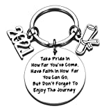 2021 Graduation Gifts for Him Her Women Men Class of 2021 Seniors Keychain for College High School Medical Masters Nurses Students Inspirational Graduation Gifts for Teen Boy Girl Son Daughter from Mom Dad