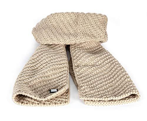 Equiline gebreide sjaal Virginia beige crème acrylwol knuffelig warm