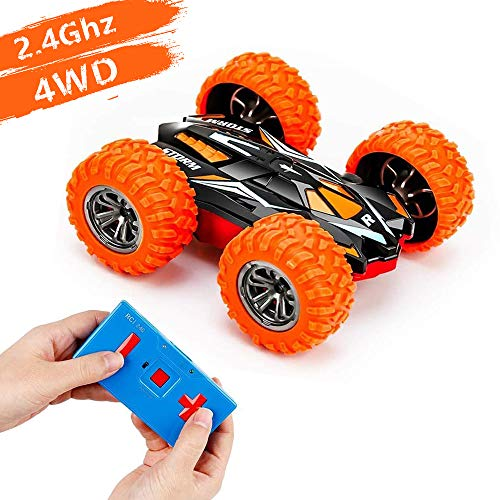 Sinobest Mini RC Cars Remote Control Car for Kids, High Speed Micro RC Stunt Cars Toys with Extreme Rotating & Double-Sided Flip 4WD Off-Road, Best Gift for 3-7 Year Old Boys Girls