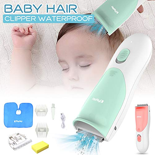 BAODANH Ultra-Leise Baby-Haarschneidemaschine, Leise Haarschneider für Kinder, Wasserdichter Haarschneider für Neugeborene, Wiederaufladbar mit Führungskämmen