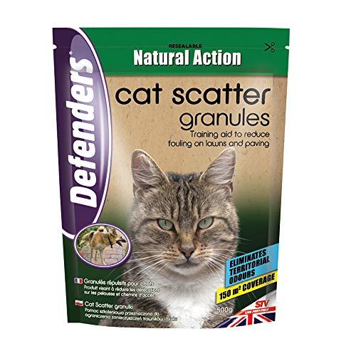 Defenders Cat And Dog Scatter Granules-450 g Multi-Pack Granella Repellente Cani e Gatti, Bianco, 450 g