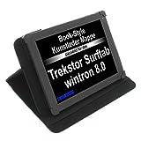 foto-kontor Tasche für Trekstor SurfTab Wintron 8.0 Book Style Schutz Hülle Buch schwarz