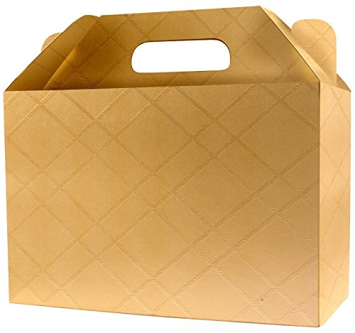 6 Best Decorative Gift Boxes Set with Lids by Giovanni Grazielli Italian Design Premium Elegant and Stylish in Gold for Different Occasions Wedding Birthday and Christmas (7.08x3.34x4.72 inches)