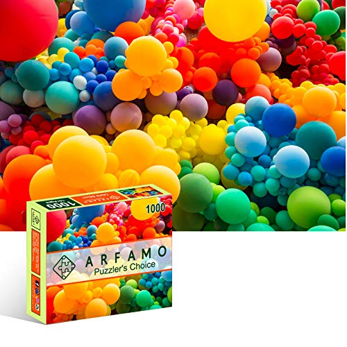 Arfamo Puzzles for Adults 1000 Piece Jigsaw Puzzles Challenging 1000 Piece Puzzle Educational Family Game DIY Mural Toys Gift for Adults Kids Teens Jigsaw PuzzlesColorful Balloons