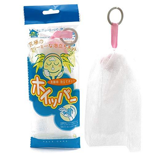 1 filet en mousse avec cordon de serrage pour le nettoyage du visage (blanc)