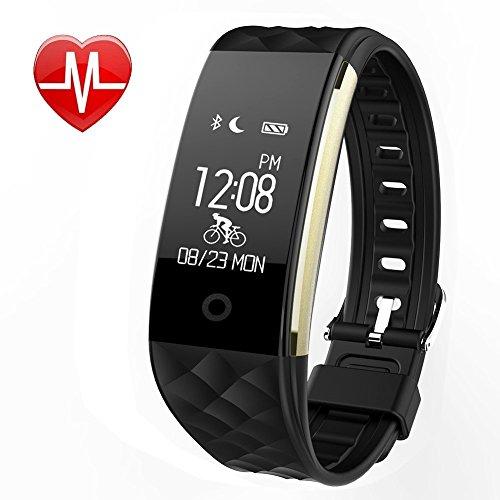 WFCL Fitness Tracker Heart Rate Monitor Activity Sleep Monitor Waterproof Smart Wristband (Black-1)