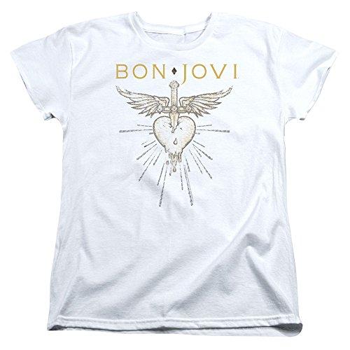 Bon Jovi Hits der - Camiseta para mujer blanco XL