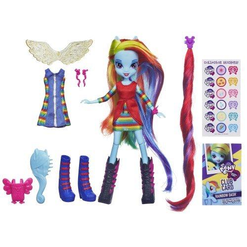My Little Pony – Equestria Girls – Rainbow Dash – Poupée 23 cm + Accessoires Mode