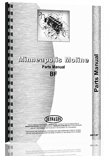 Parts Manual Minneapolis Moline BF Avery R Tractor