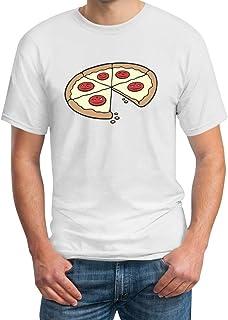 Shirtgeil Papa Pizza Stück - Partnerlook Geschenkidee Eltern Kind - Herren T-Shirt