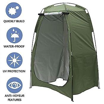 Eummy Tente de Douche Pop Up Cabine d?essayage Mobile Pliable Etanche Portable avec Sac de Transport Toilettes de Camping Vestiaire pour Extérieure Intérieure Pêche Camping Plage