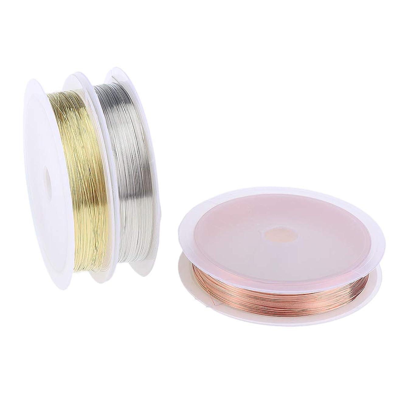 不調和吐き出すむき出しB Blesiya 3本 銅製 ネイル ライン DIY 銅ラインロール ストライピングテープライン